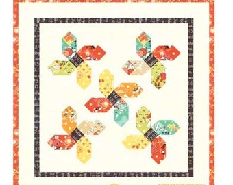 MINI Somersault quilt pattern wall hanging from Fig Tree and Co. - Charm pack friendly