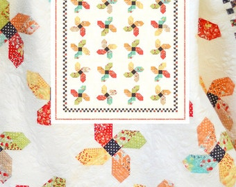 Somersault quilt pattern from Fig Tree and Co. - layer cake or 1/8 yard friendly