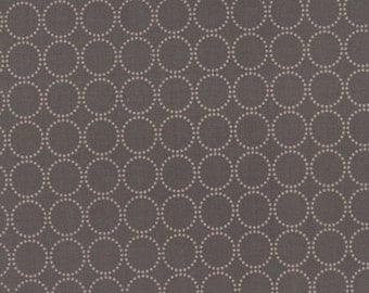 Sundrops - Circled in Dark Taupe: sku 29014-25 cotton quilting fabric by Corey Yoder for Moda Fabrics - 1 yard