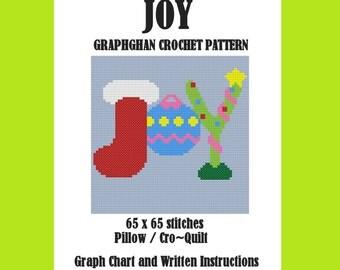 JOY Pillow/Cro-Quilt - Graphghan Crochet Pattern