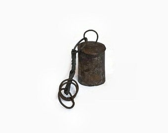 Primitive Metal Cow or Goat Bell, Vintage Hand Forged Farm Animal Bell, Rustic Farmhouse Decor