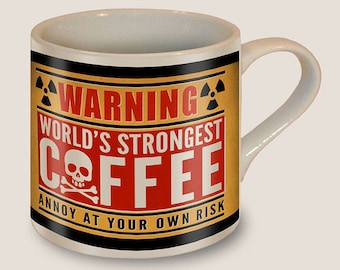 Worlds Strongest Coffee Mug - Ceramic Mug by Trixie & Milo - Comes in a fun Gift Box - Fun Novelty Gift for Coffee Lovers