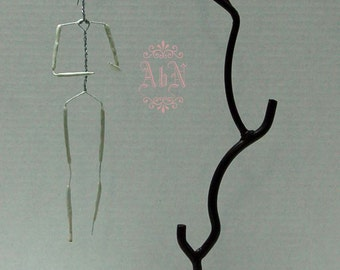Doll Stand -  Wrought Iron Twig Hanger-  For OOAK Art Dolls