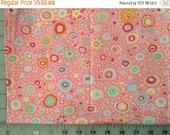 Summer Sale Kaffe Fassett RomanGlass Pink Pastel Dot Cotton Fabric by the half yard