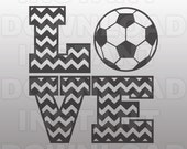 Love Soccer SVG,Soccerball SVG,Chevron Soccer SVG,Cutting Template-Vector Clip Art for Commercial & Personal Use-Cricut,Cameo,Silhouette