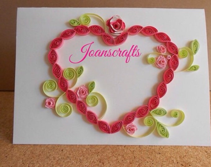 """Say """"I Love You"""" with this Beautiful Heart in Quilling"""