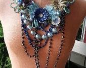 Denim Chameleon... a statement necklace from Wendy Baker