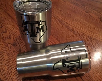 Texas A&M Decal-Yeti Decal