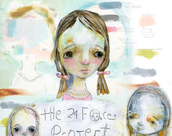 The 24 Faces Project online class - by Mindy Lacefield