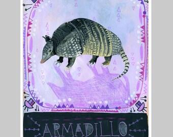 Animal Totem Print - Armadillo