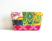 Patchwork Cosmetic Case, Small Zipper Pouch, Makeup Bag, Women and Teens, Anna Maria Horner Good Folks Fabrics