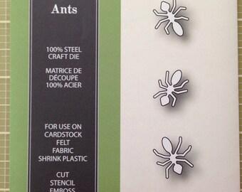 Poppystamps picnic ants craft die