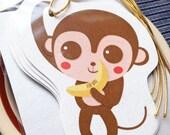 Little Monkey Gift Tags - Set of 5