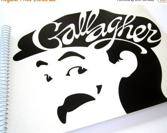 SALE 40% OFF--- Record Album Notebook GALLAGHER the Comedian, Recycled Upcycled Retro Record Album Cover Journal Notebook, Comedy, Vintage 1