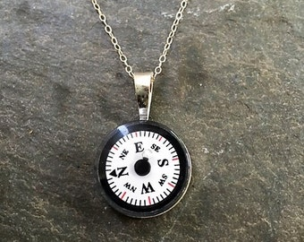Working Compass Necklace Etsy