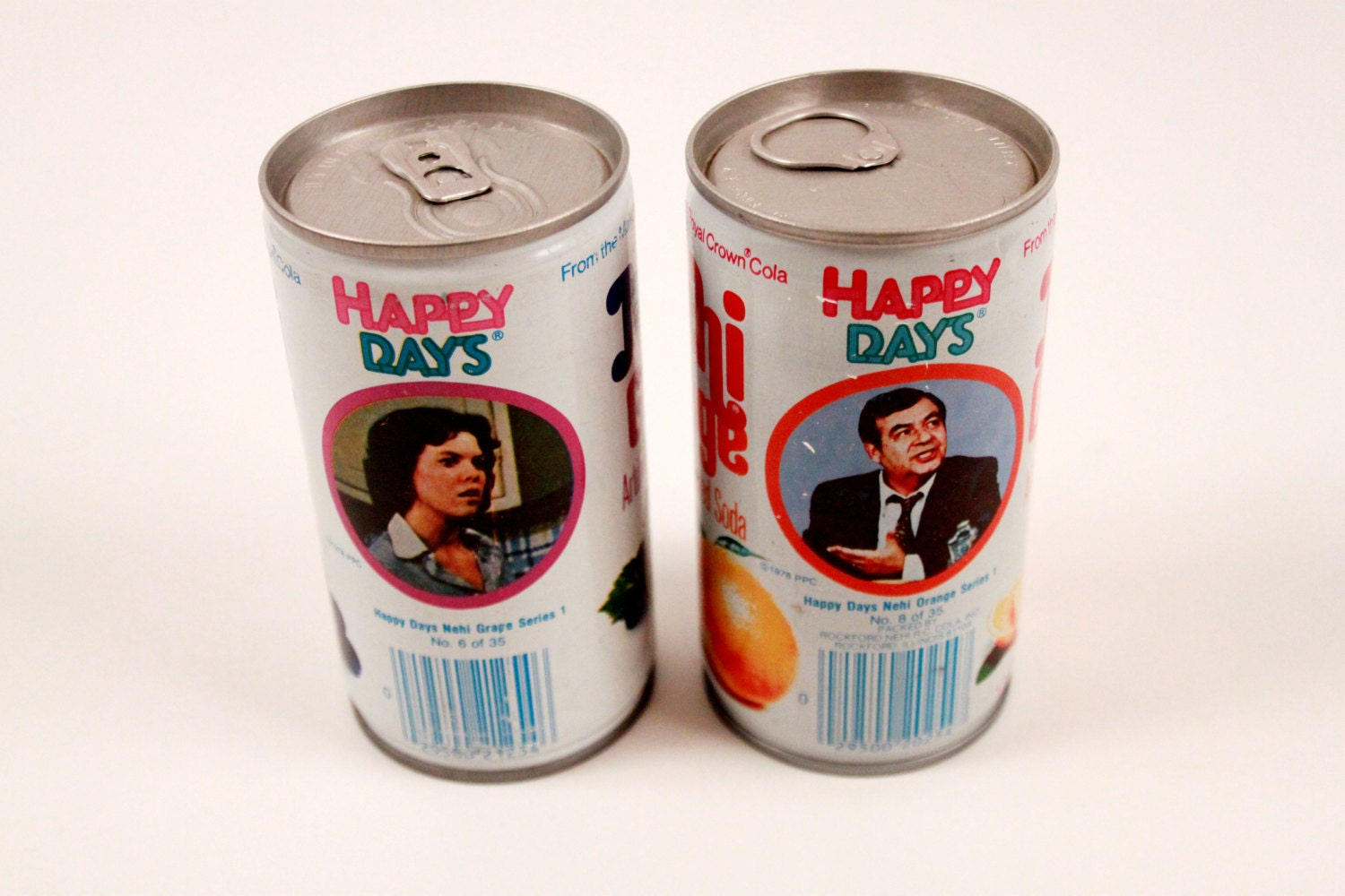 Vintage Nehi Soda Cans 1970 S Grape And Orange By Thepinkroom