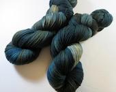 Hand Dyed Ultra Merino Superwash Sock Fingering Yarn -- The Moody Menswear of Outlander