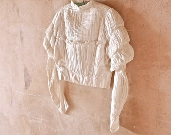 Victorian Child's Bodice Blouse With Renaissance Sleeves