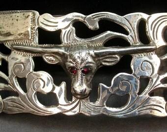 Fabulous Unisex Sterling Belt Buckle: REDUCED!