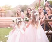 Flower Girl Dress As Seen on WeddingChicks.com Pink Blush