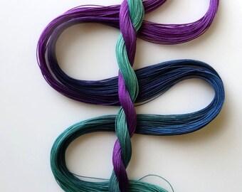 "Size 50 ""Stardate"" hand dyed thread 6 cord cordonnet tatting crochet cotton"
