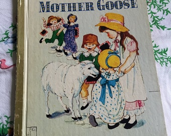Vintage children's books 'Mother Goose' by Numbat (like Little Golden Books)