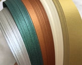 """1"""" Weaving Paper Strips~ Shimmer Holiday Alternate (100 strips)"""