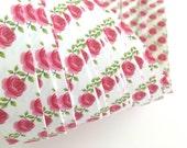 Weaving Star Paper~ Pink Roses (50 strips)