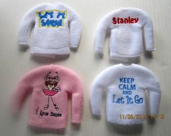 Customized elf sweater