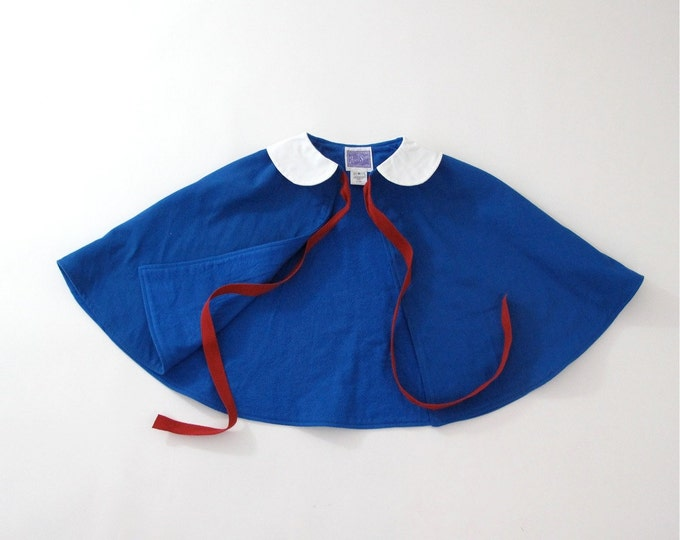 Madeline Cape, Madeline Costume, Madeline Halloween Costume, Baby Cape, Toddler Cape, Girls Cape, Halloween Cape, Size Newborn to Girls 9/10