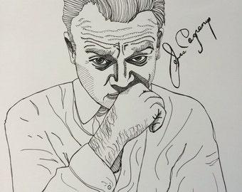 James Cagney 11x14 original ink illustration
