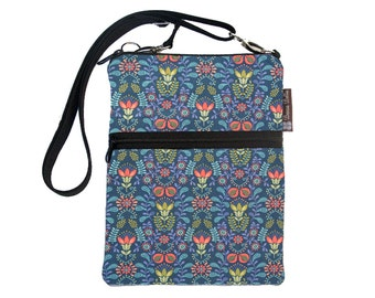 Crossbody Travel Purse also fits many tablets Kindle Fire /Nook Bag / iPad mini / FAST SHIPPING / - Home Sweet Fabric