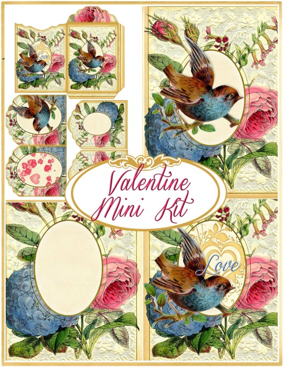 Victorian Valentine Mini Kit for Cards