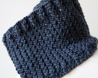 CHARCOAL GRAY Knit Scarf for Men or Women, Hand Knit Merino Wool Neckwarmer Cowl Gaiter, Hygge, Chunky, Collar, Winter, Warm, Unisex