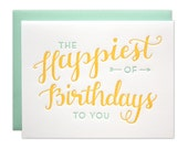 Happiest Birthday Letterpress card