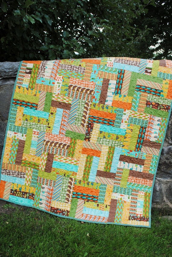 Pdf Quilt Pattern Easy Beginner Quick Strip And