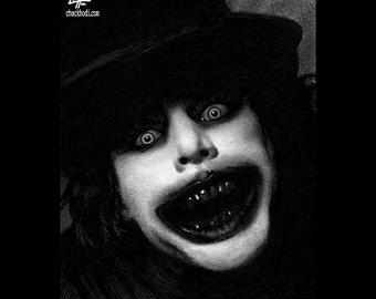"Print 8x10"" - The Babadook - Dark Art Horror Pop Lowbrow Thriller Fairytale Spooky Scary Death Gothic Halloween Monster Creature Teeth Black"