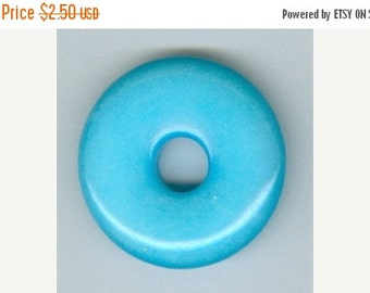 CLEARANCE 32mm Sky Blue Candy Jade Donut Pendant 8401