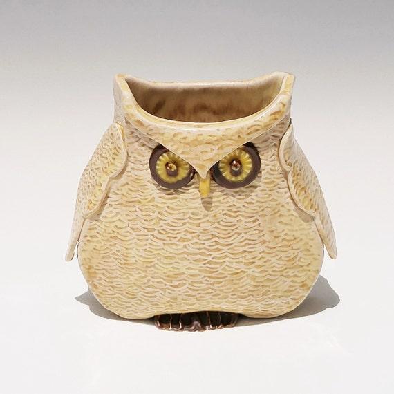 Ceramic Vase - Owl - Decorative Vase - Planter - Pencil Holder - Desk Accessory - Owl Lover - Graduation Gift - Stoneware - Pottery - Bird
