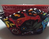 Microwave Bowl Cozy or Potholder Folk Art Farm Fabric