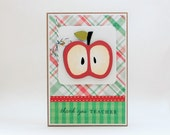 Teacher Thank You Card with Matching Patterned Envelope