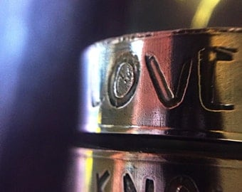 Love Knows No Gender copper ring - ready to ship - Size 12
