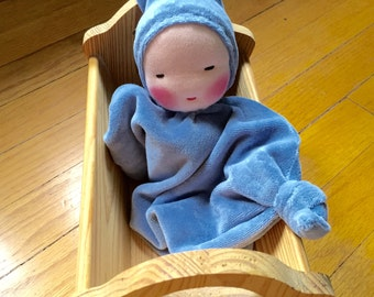 Waldorf doll, Blanket Doll, germandolls, Waldorf toy, newborn gift, baby shower present, security blanket