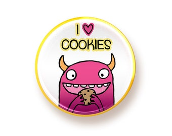 I love Cookies - button