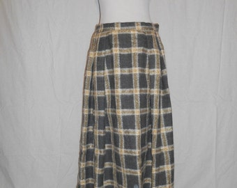 Vintage 60's 70's  skirt  Abercrombie and Fitch   Jackfin Wool  High Waisted