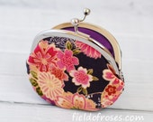 Clasp Change Purse Kimono Floral Coin Pouch Japanese Cherry Blossom