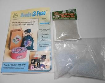 Beads 2 Fuse Glitter Beads, Holeless Beads, 1 mm Glass Beads