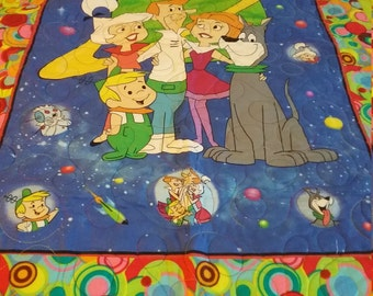 "Handmade Jetson's Panel Baby Quilt 37"" x 50"""
