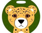 Luggage Tag - Cheetah - 2.5 inch or 4 Inch Large Round Plastic Bag Tag