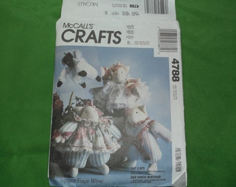 McCalls Pattern 4788 Fat Cats
